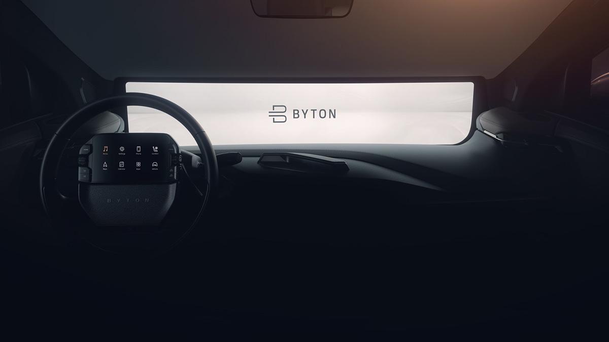 Серийный электромобиль Bytonполучит 49-дюймовый экран