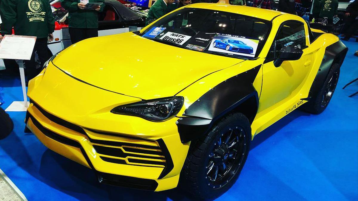 Японские студенты построили гибрид Toyota GT86 и Lamborghini Urus