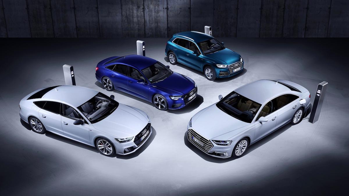 Четыре модели Audi стали подзаряжаемыми гибридами