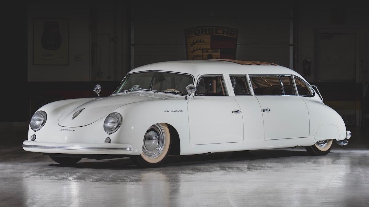 На аукцион выставили заднемоторный лимузин (!) Porsche