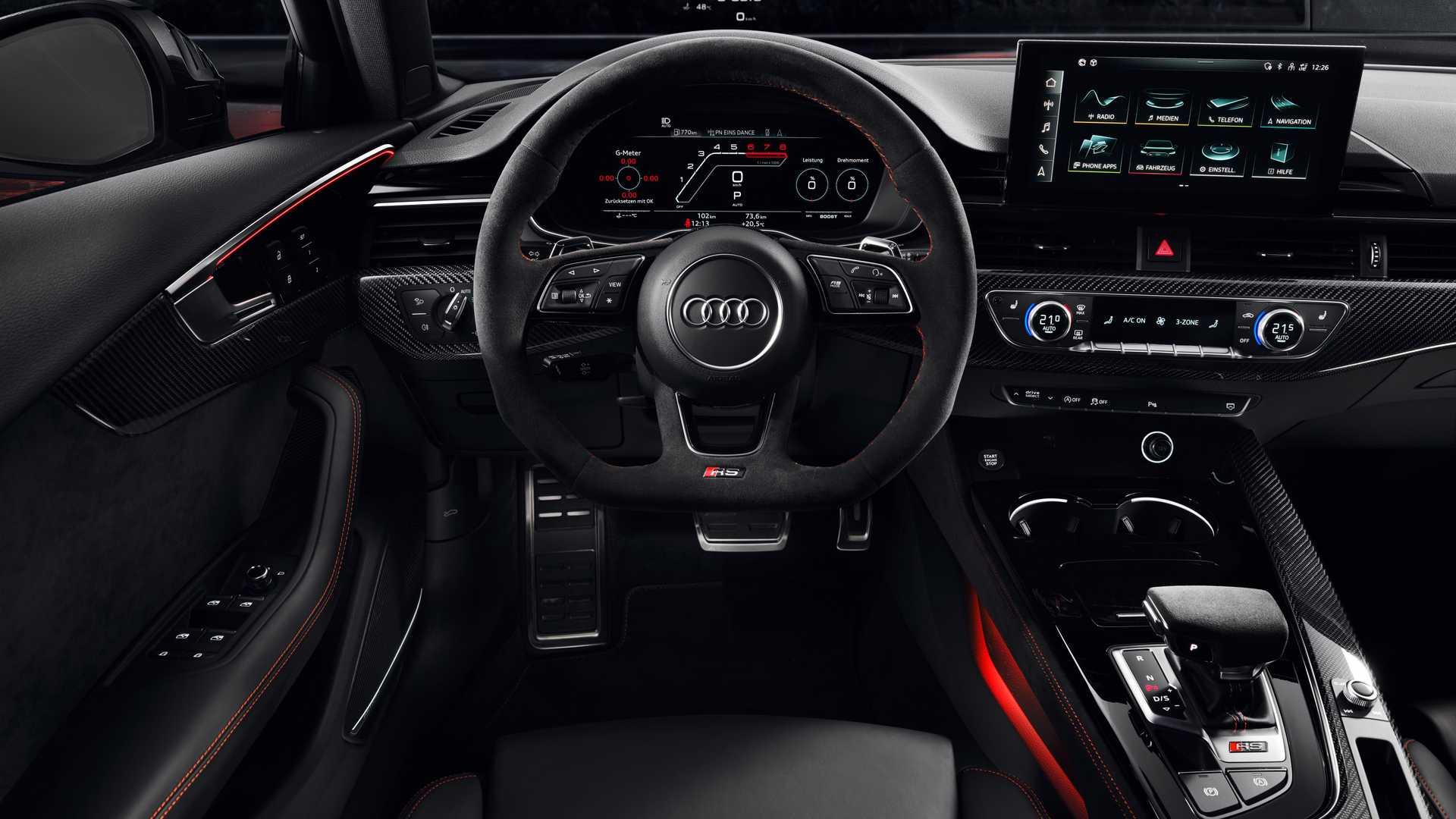 Audi RS4получил новую мультимедийку и сохранил мотор Porsche