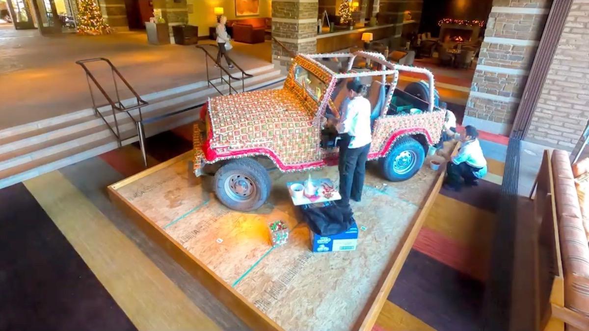Jeep Wrangler сделали съедобным с помощью пряников и мармелада