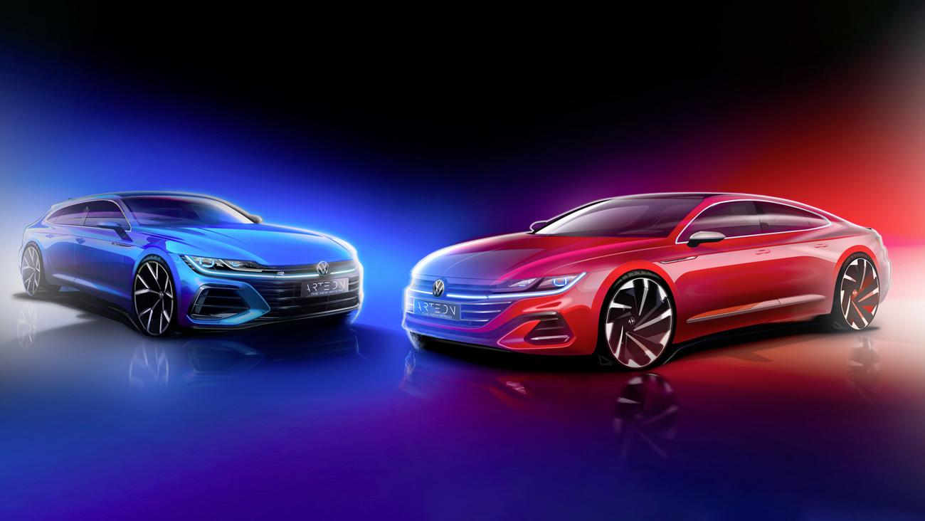 VW представит универсал Arteon одновременно срестайлингом лифтбека