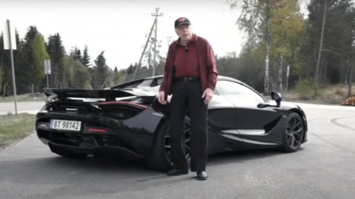 78-летний норвежец купил суперкар McLaren. Это его машина на каждый день