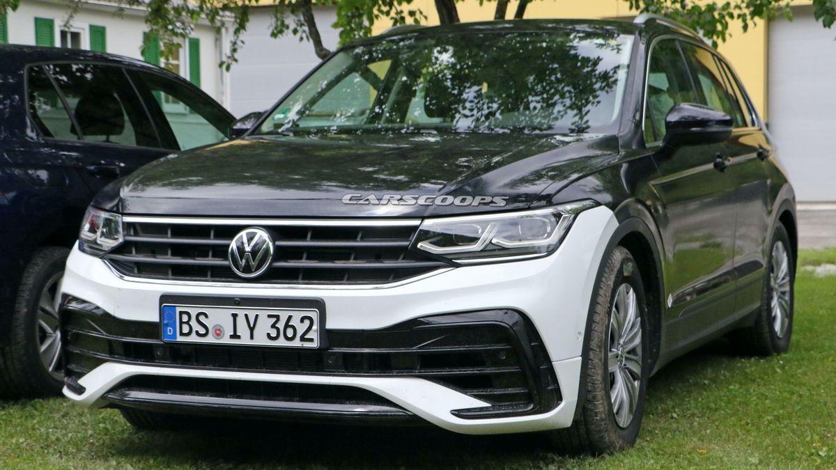 Шпионы сфотографировали интерьер нового Volkswagen Tiguan