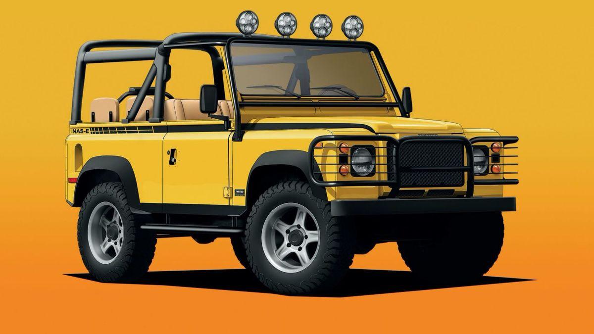 Старый Land Rover Defender превратили в дорогой электромобиль