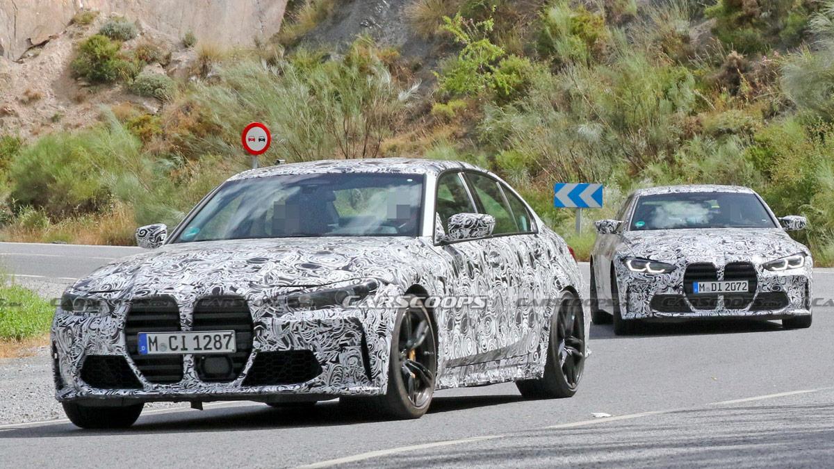 Новые шпионские фото BMW M3 и M4: огромные ноздри всё ещё здесь