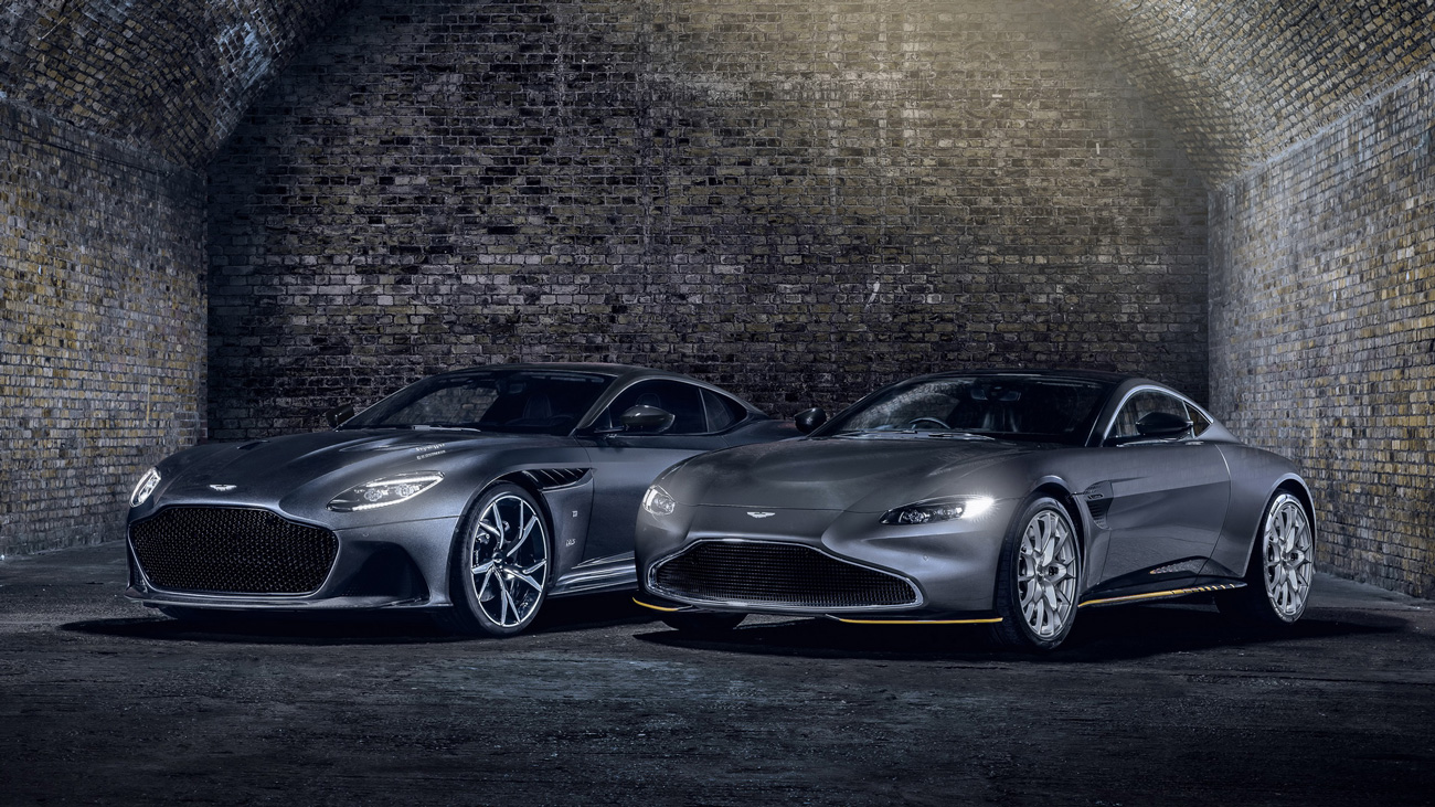Марка Aston Martin выпустила уникальные спорткары DBS и Vantage к премьере нового Джеймса Бонда