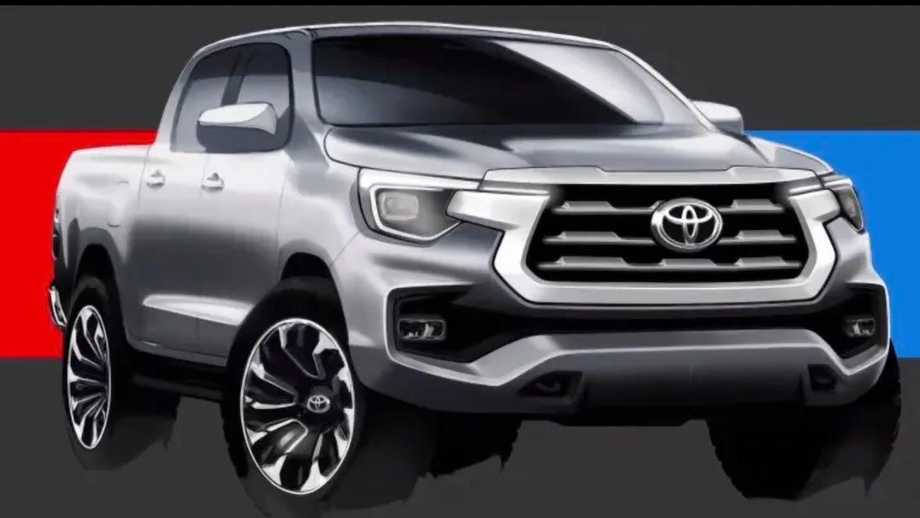 Toyota показала эскизы обновлённого пикапа Hilux, который не пошёл в производство