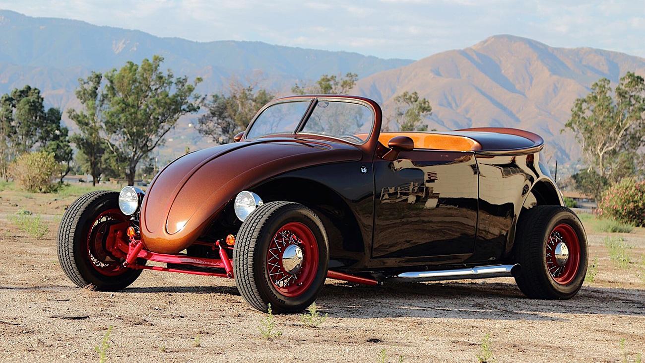 Крутой хот-род на базе VW Beetle с мотором Porsche продали по цене Toyota Camry