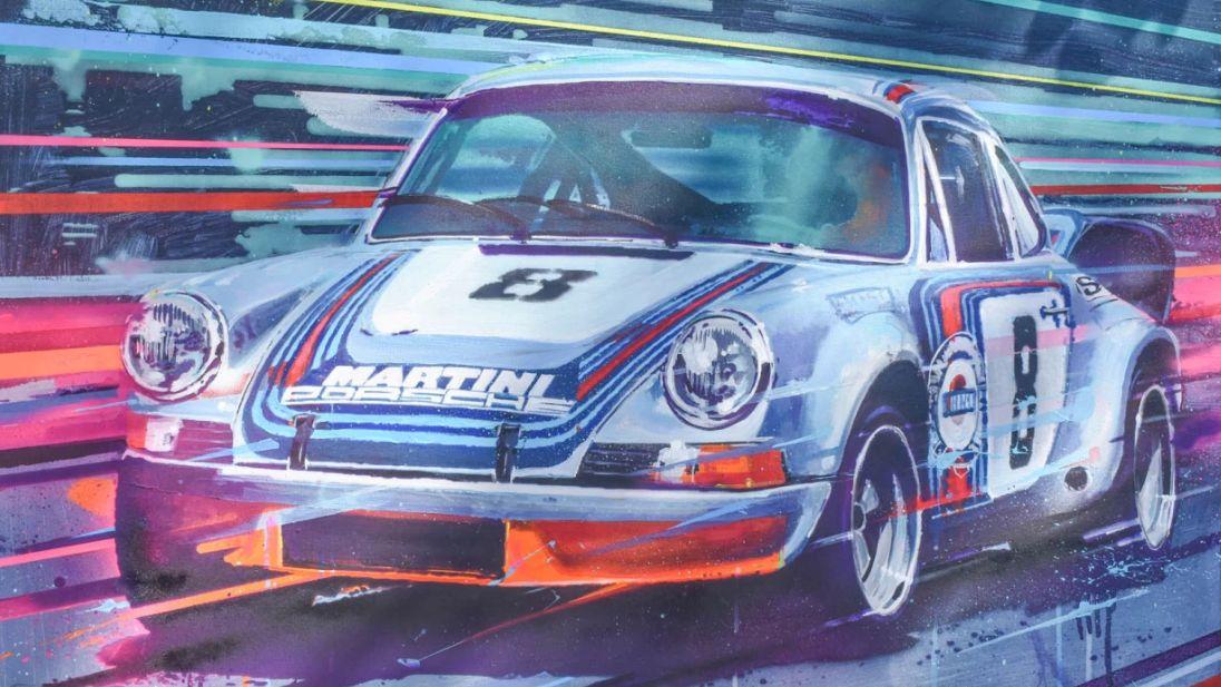 Гоночный Porsche 911 Carrera RSR 1973 года продают за 11 тысяч долларов. Но он нарисованный
