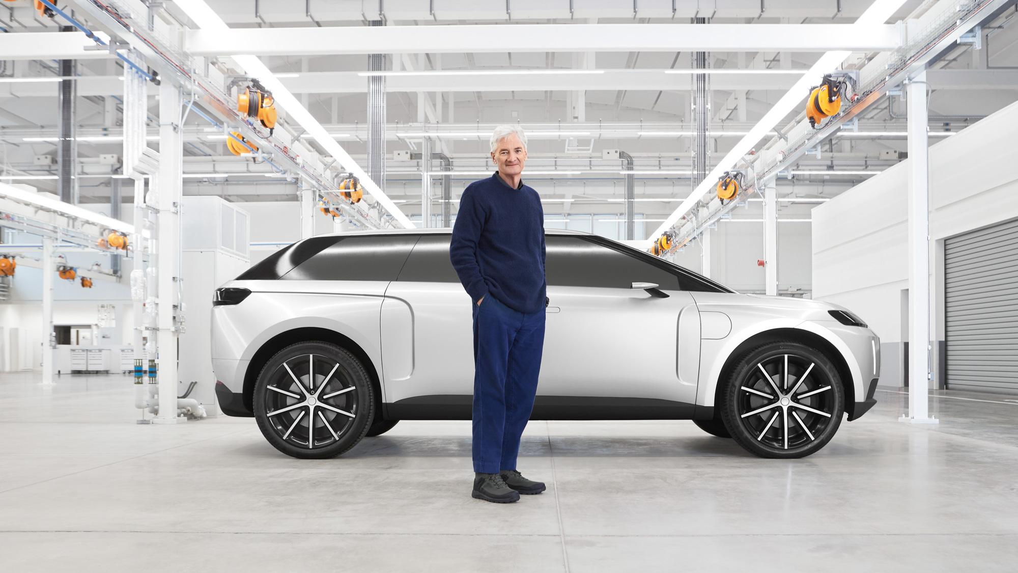 Джеймс Дайсон и прототип электромобиля Dyson