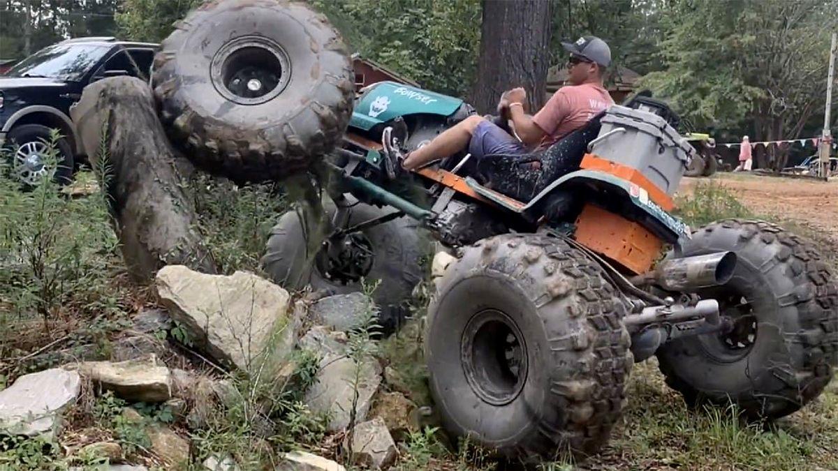 Крутой внедорожник на 38-дюймовых колёсах: что американец сделал из обычной газонокосилки