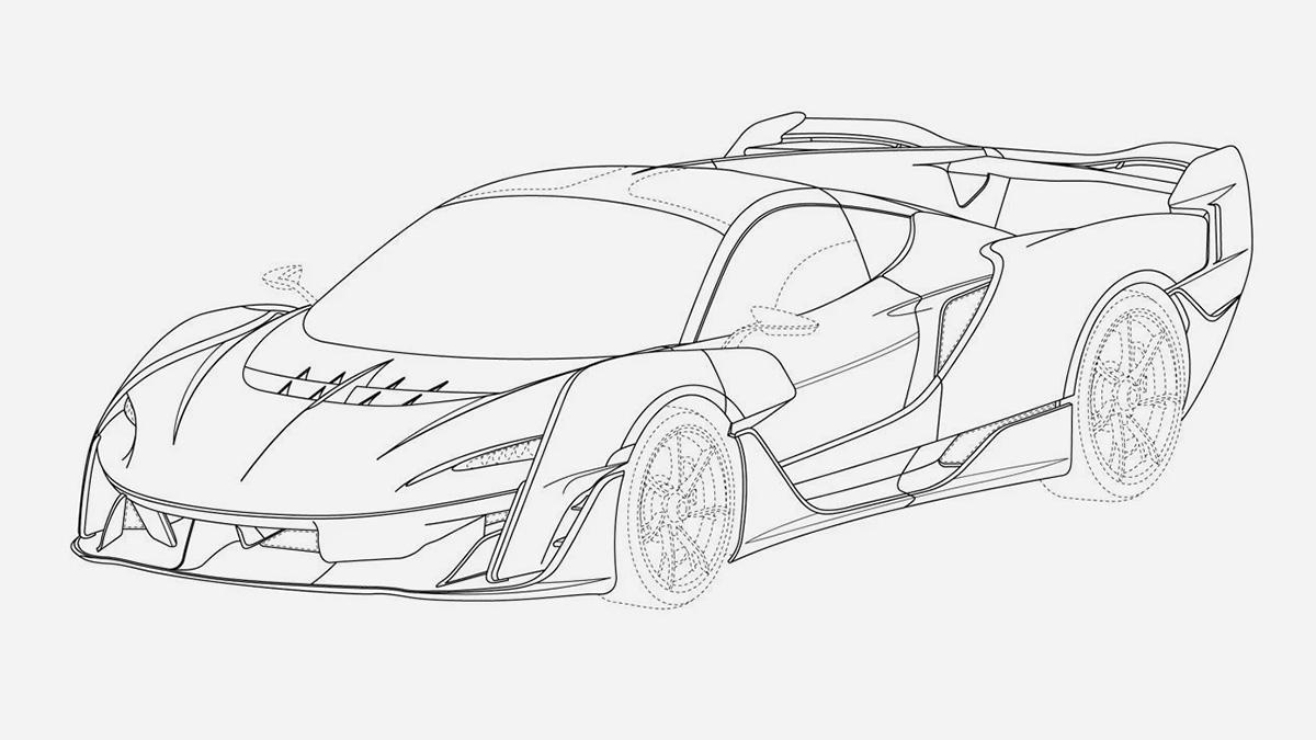 Внешность нового гиперкара McLaren раскрыли на патентных изображениях