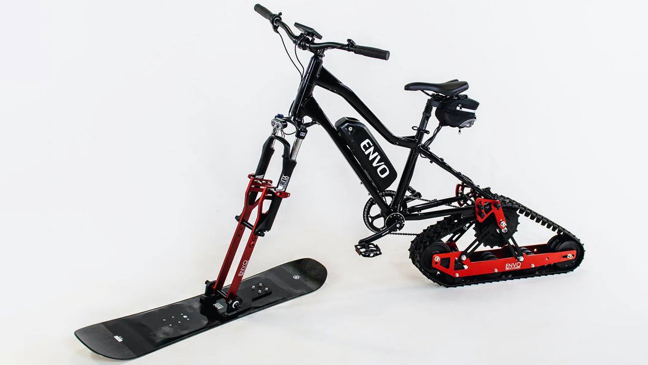 Канадская фирма выпустила комплект, превращающий обычный велосипед в снегоход