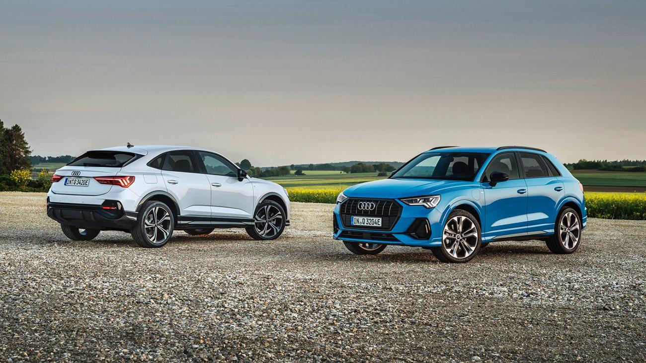 Кроссоверы Audi Q3 и Q3 Sportback впервые стали подключаемыми гибридами
