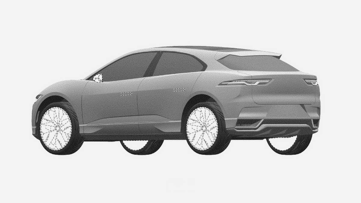 Обновлённый электрокроссовер Jaguar I-Pace рассекречен на патентах