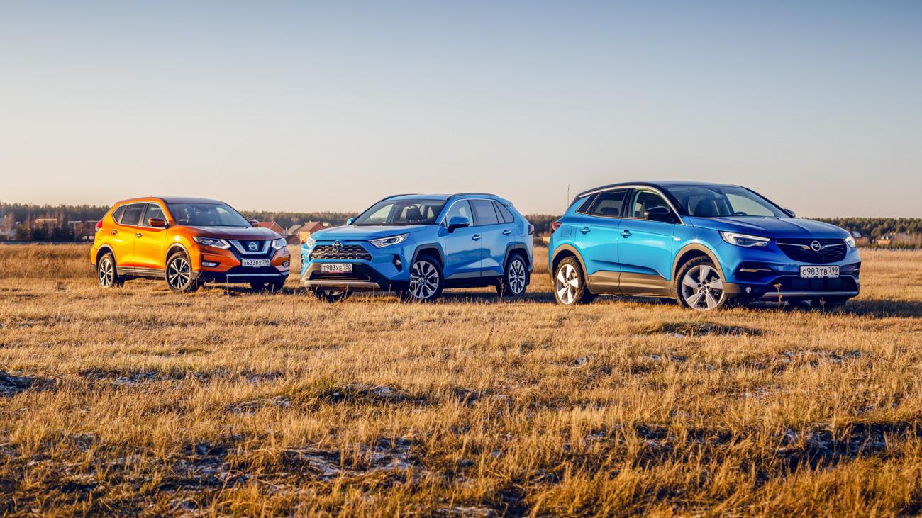 Свободная касса: Opel GrandlandX против Toyota RAV4 иNissan X-Trail