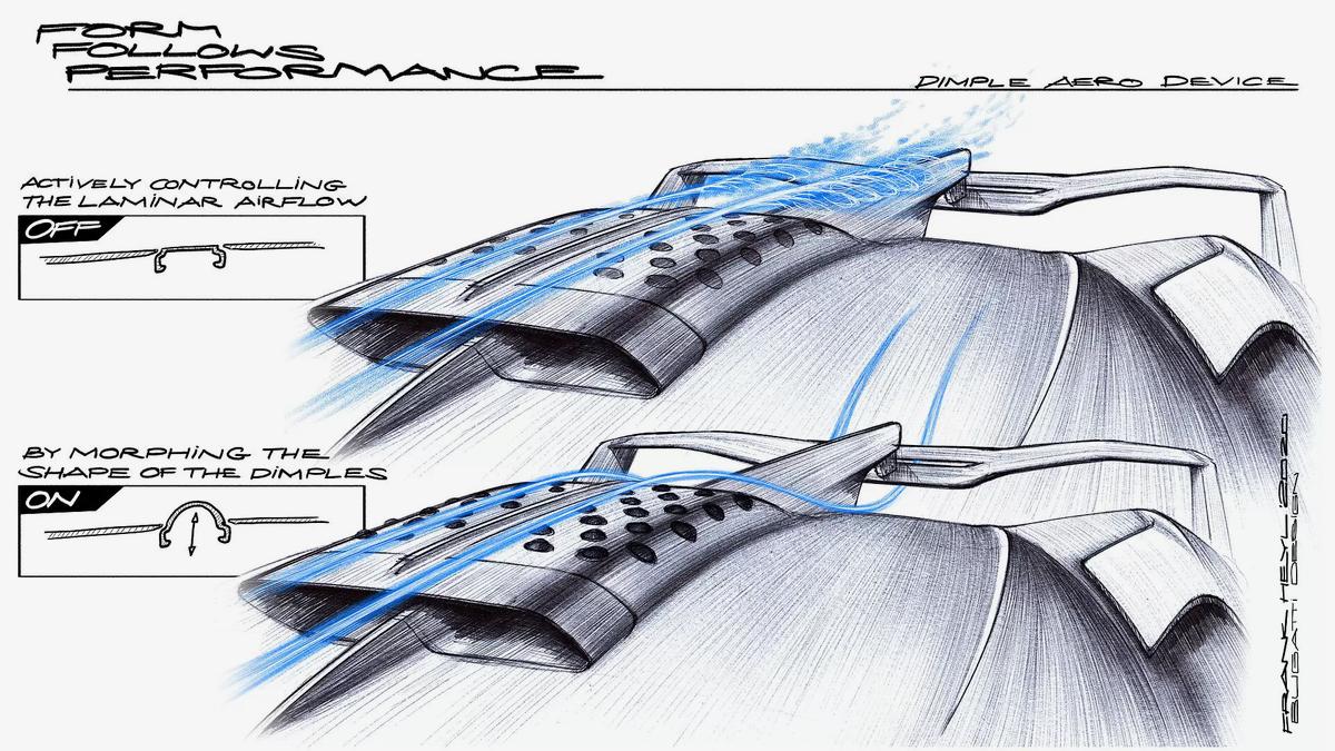 Bugatti объяснила появление «ямочек» на крыше новейшего гиперкара Bolide