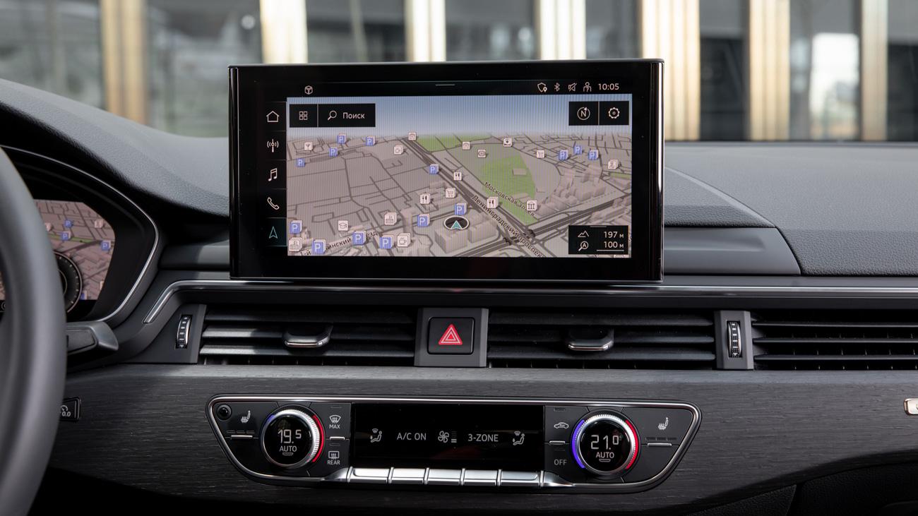 В Audi противились планшетам дольше остальных – достаточно вспомнить убирающиеся экраны в А3 или прошлых А6. Возможно, поэтому этот дисплей выглядит так, словно он приделан сюда таксистом. Там сзади точно нет присоски?