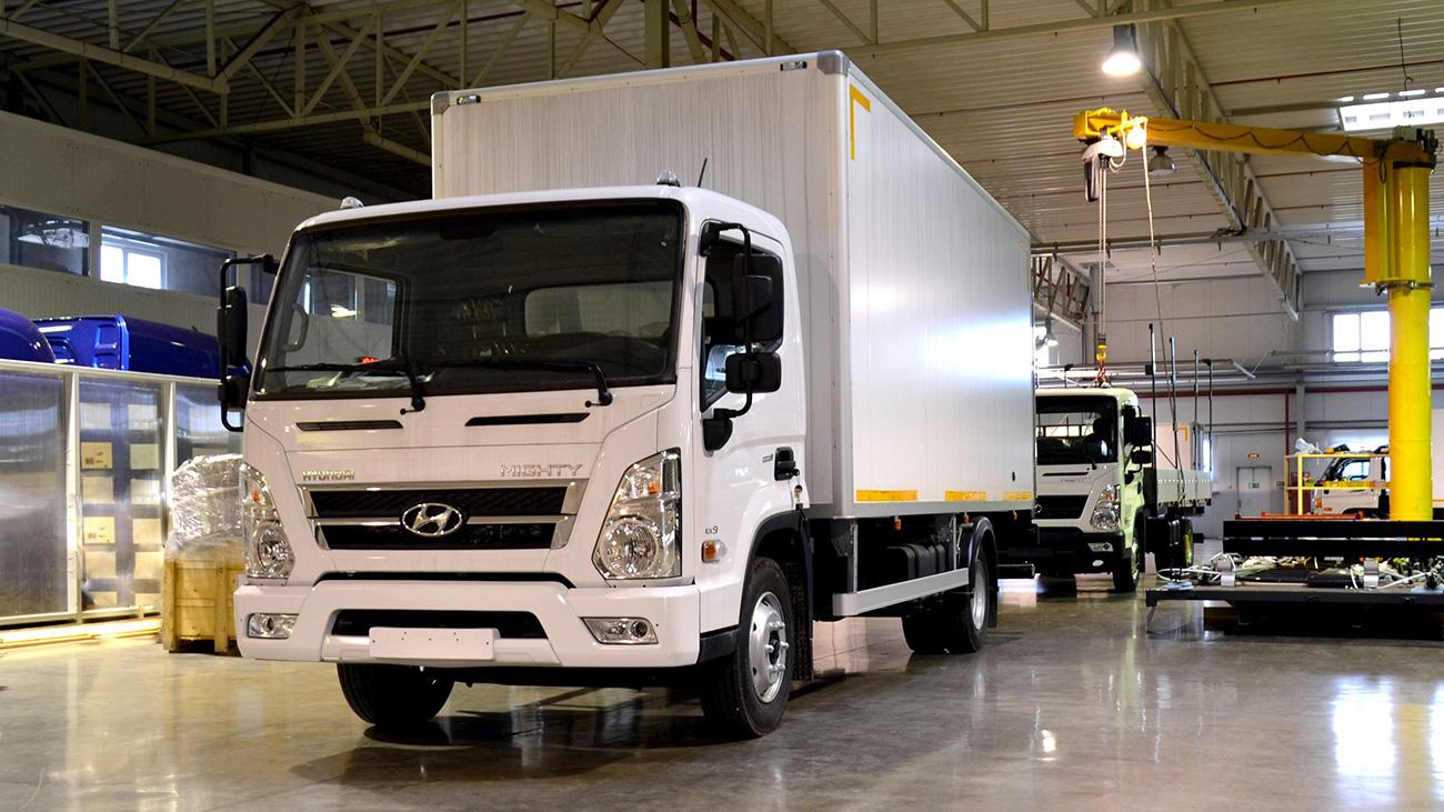В России началось производство грузовиков Hyundai