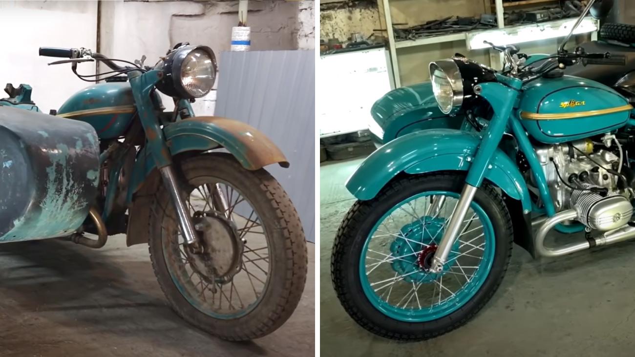 Реставрация старого мотоцикла «Урал»: залипательное видео