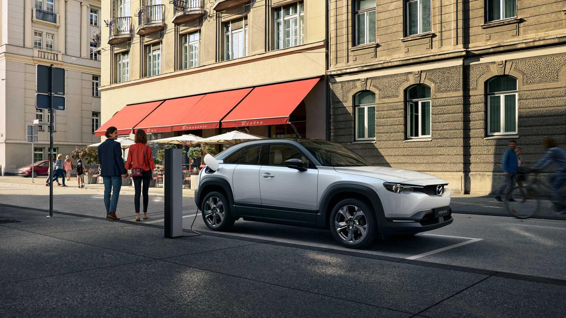 Mazda удвоит запас хода своего электрокара за счёт ротора