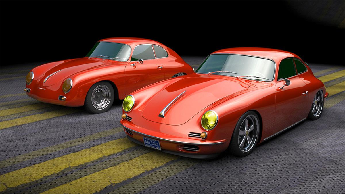 Старинный спорткар Porsche 356 возродят на современном шасси