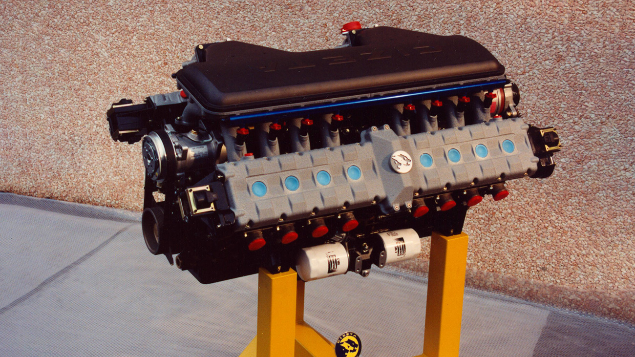 Мотор суперкара Cizeta Moroder V16T: два V8 от Lamborghini, соединённых последовательно