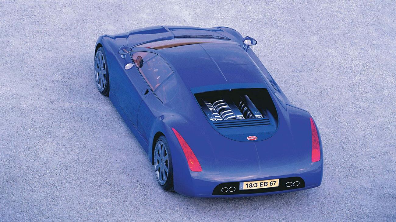 Концепт-кар Bugatti EB18/3 Chiron с мотором W18, 1999 год