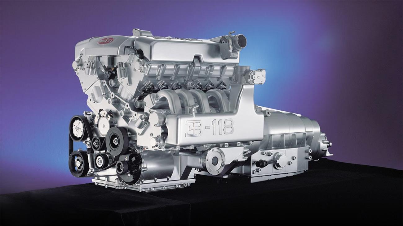 Экспериментальный атмосферный W18 Bugatti: 563 л.с., 650 Нм и 315кг