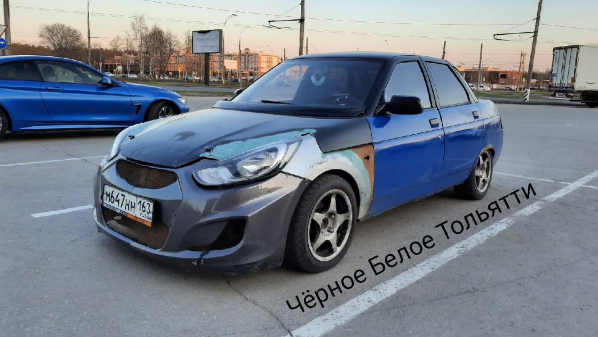 Неудачное скрещивание: посмотрите на ВАЗ-2110 с «лицом» Hyundai Solaris